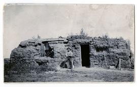 Sod house - fairly long and low
