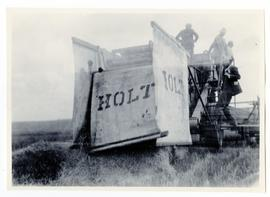 A Holt chaff collector on a combine