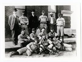Early photo of the Manor baseball team