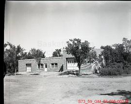 Exterior view of incinerator and work shop - Public Works
