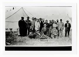 Men on a William Pearson Company landseeking excursion