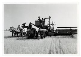 Harvesting with farm equipment