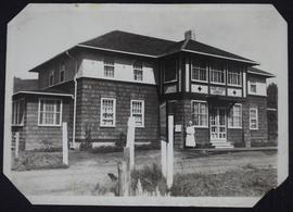 Fort Qu'Appelle Red Cross lodge, nurse at door