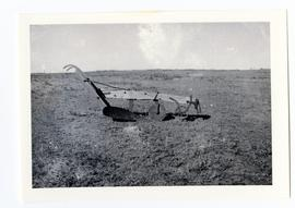 Photograph of one of the first ploughs [sic] in the Zelma district