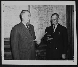 """Swearing in "" of J.A. Darling as member of cabinet"