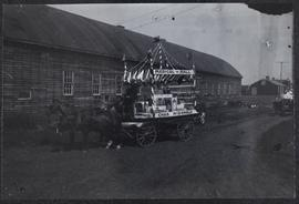 Horse drawn float in a Prince Albert parade - Medical-Hall, Chas. McDonald