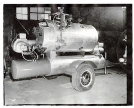 A new type of portable boiler manufactured by Saskatoon Boiler Manufacturing Limited.