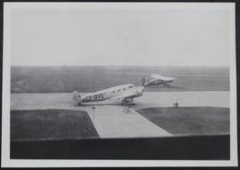 A Barkley-Grow transport and a Norseman IV at Regina during W.W. II