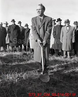 [Sod Turning Ceremony for the Interprovincial Steel Corporation Plant 3 Miles North of Regina]