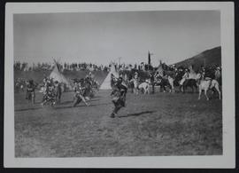 Lebret historical pageant - battle between Saulteaux and Sioux