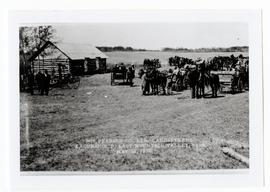 Landseekers stopped at John Begg's farm during a William Pearson Company excursion