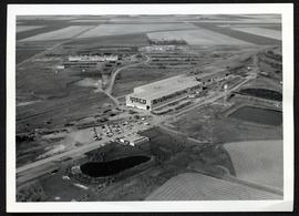 Aerial of IPSCO, with Prairie Pipe Manufacturing co. ltd. in background