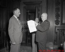 Willis, Clarence George - swearing-in ceremony
