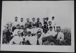 J.T.M. Anderson with group of Ukrainian boys and Rev. T.W. Johnson at Insinger