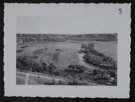 View of river and valley from high hill west of Fort Qu'Appelle