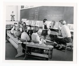 The beginners class at the School for the Deaf.