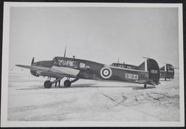 An Avro Anson reconnaissance patrol plane from No. 4, S.F.T.S., on the ground
