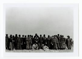 Group of men on one of the William Pearson Co.'s landseekers excursions