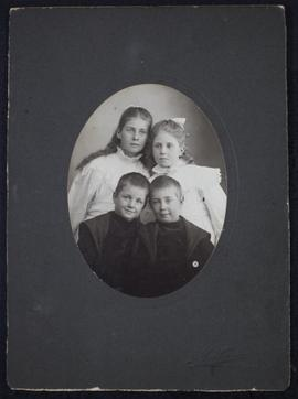 Portrait of two boys and two girls