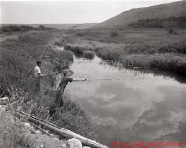 [Anglers Fishing at Belanger Creek and Proposed Site of Lock Lomand]