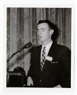 Speaking on behalf of western farm youth at meeting between Prime Minister Diefenbaker and his ca...