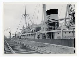 A ship at dock, Port Churchill