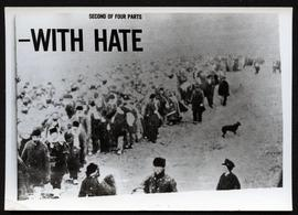 """With Hate"" headline and photo of marching Doukhobors"