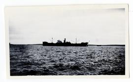 A ship at sea, possibly in Hudson Bay