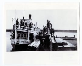 The S.S. Qu'Appelle at the dock