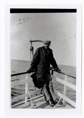 William Pearson on a boat (probably the S.S. Qu'Appelle)