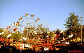 View of midway at Prince Albert fair