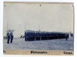 American troop undergoing inspection