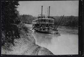 """Northwest"" steamboat on the North Saskatchewan River near Edmonton"