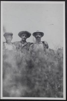 Members of the Sonnenfeld colony:  Israel Hoffer, M. Peikaff, and Meyer Hoffer