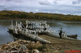 Ferry crossing at the North Saskatchewan River