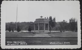 Vimy memorial in Kiwanis Park