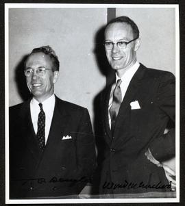 Dean of Medicine, University of Saskatchewan, Wendell MacLeod with Premier Douglas