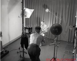 [Les Robinson Working in Photo Studio]
