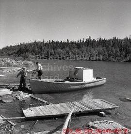 Commercial Fisherman Operating from Crackingstone Pt. on Lake Athabasca