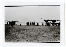 A camp set up for people on a landseekers excursion