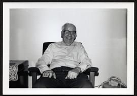 Alex Pryslak seated at home in Yorkton, Sask.