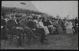 Commsr. Perry, Sir Gilbert Parker, Earl Grey, Mrs. Bulyea, Sir W. Laurier, etc. at Inauguration c...
