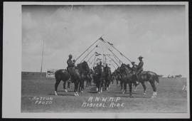 North West Mounted Police (NWMP) musical ride party rehearsing