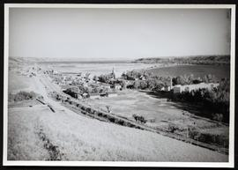Lebret seen from hillside looking south-east