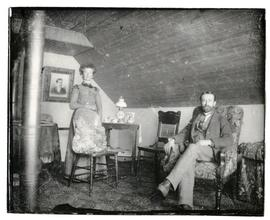 Possibly the upstairs interior of a store in Rosthern
