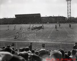 B.C. Lions Meeting Sask. Roughriders in a Football Game at Taylor Field