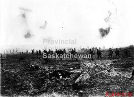 """Canadians assaulting Vimy Ridge"""