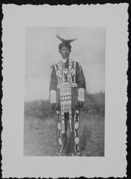 Alfred Peechow of Thunderchild Reserve in costume