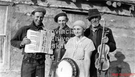 Bill, Hazel, Harry and Ab Jackson with their musical instruments formed the United Farmers of Can...