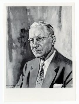 Photo of painting of George W. Robertson on display in the Agriculture Hall of Fame